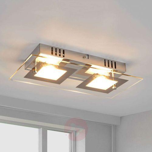Lampenwelt.com Manja – dwupunktowa, chromowa lampa sufitowa led (4251096526288)