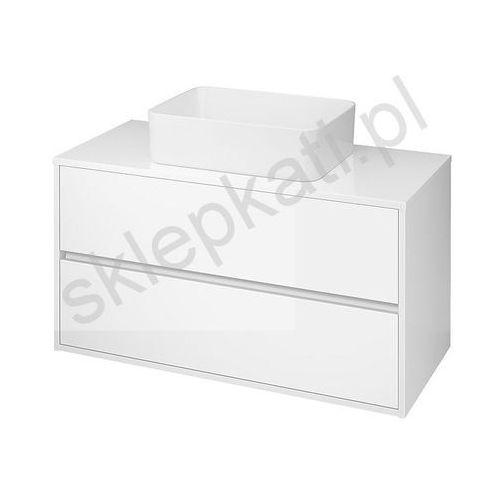 CERSANIT CREA Szafka 100 pod umywalki nablatowe, biała S924-006, kolor biały