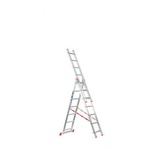 B2b partner Trzyczęściowa aluminiowa drabina hobby, 3x7 stopni, 4,24 m