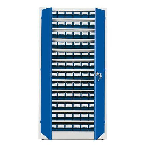 Aj produkty Szafa warsztatowa z pojemnikami, 96 pojemników, 1900x1000x400 mm