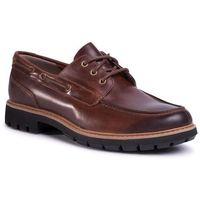 Półbuty - batcombe sail 261479657 dark tan leather, Clarks, 41-46