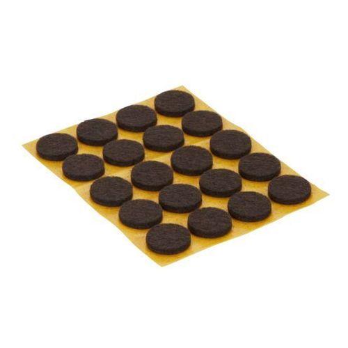 Diall Podkładki samoprzylepne  filcowe 17 mm brązowe 20 szt. (3663602992509)