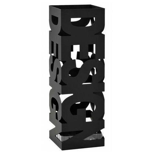 Czarny designerski stojak na parasole - Nauro 4S, vidaxl_246793