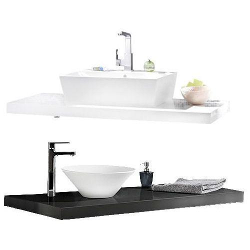 Lanzet Blat pod umywalkę 60 cm w kolorze białym lub grafitowym.