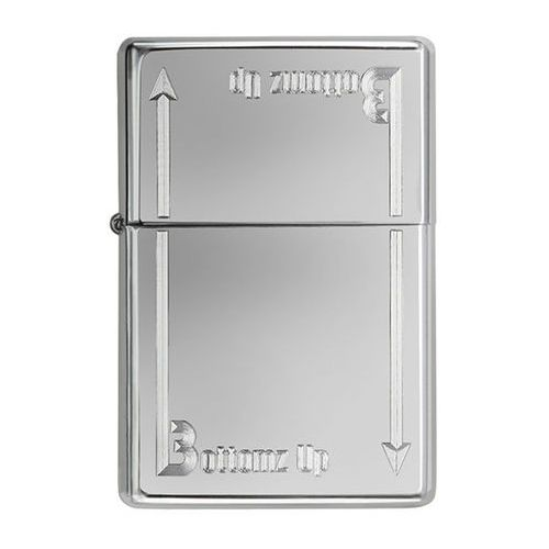 Zapalniczka Zippo Bottom Up Logo, High Polish Chrome