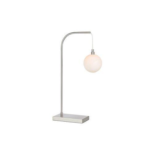 Stojąca LAMPA stołowa BUDDY 107492 Markslojd metalowa LAMPKA biurkowa szklana kula ball stal biała, 107492