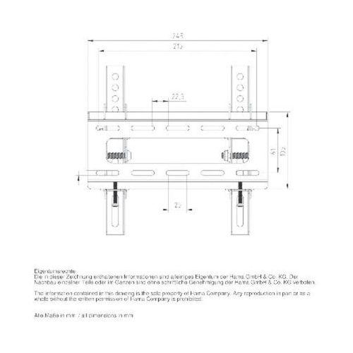 Uchwyt Hama LCD/LED, VESA 200X200 MOTION L