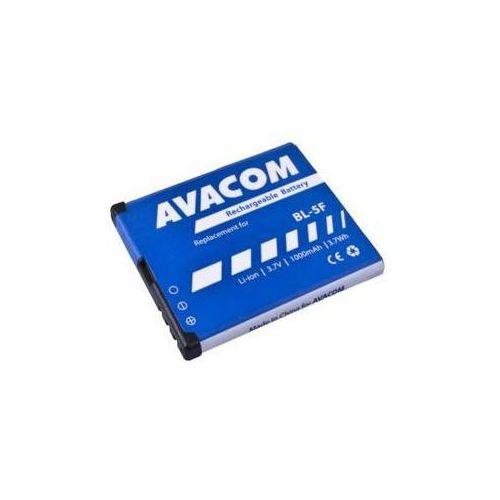 Bateria do notebooków Avacom pro Nokia N95, E65, Li-Ion 3,6V 1000mAh (náhrada BL-5F) (GSNO-BL5F-S1000A) z kategorii Baterie do telefonów