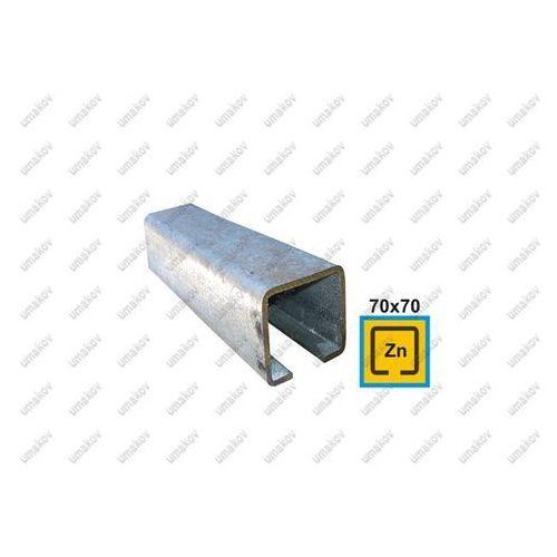 Profil do bramy przesuwnej Zn, 70x70x4mm, L6m