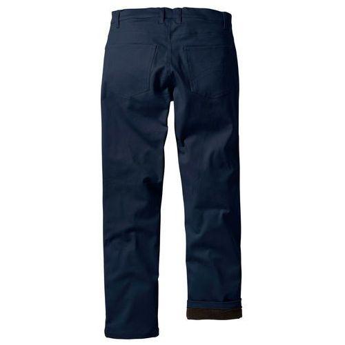 Spodnie ocieplane ciemnoniebieski marki Bonprix