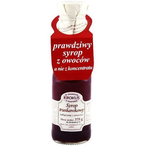 Syrop truskawkowy sok truskawki 375g -  od producenta Krokus