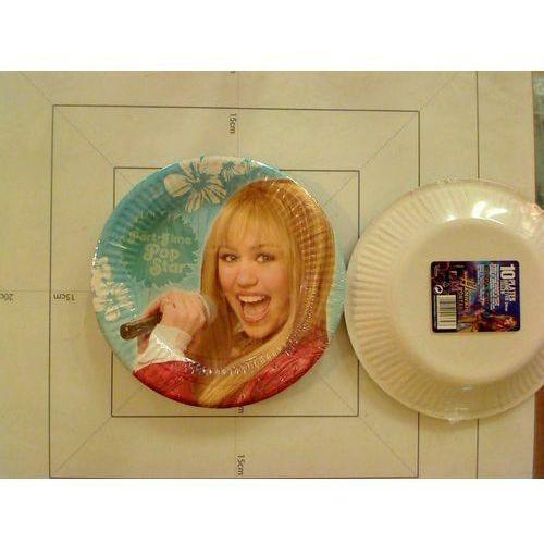 Komplet talarzy papierowych Hannah Montana 10 szt. DISNEY (5201184028100)