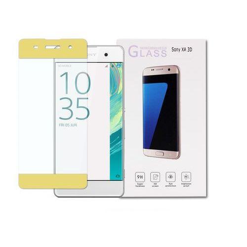 Sony Xperia XA - szkło hartowane 3D - złoty, FOSN315TG3DGLD000