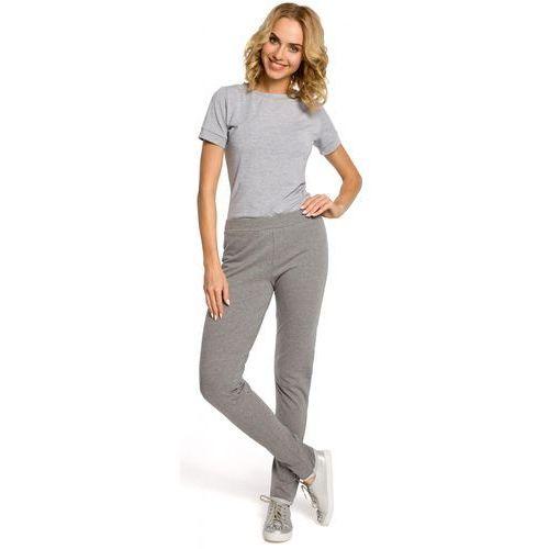 Dzianinowe spodnie dresowe 055 szare marki Moe