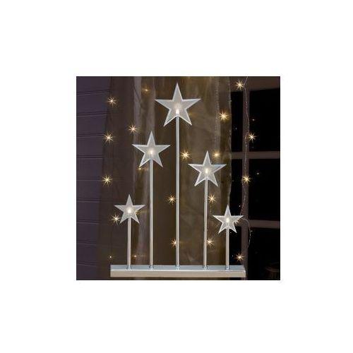 Srebrny łuk świetlny z gwiazdkami Kvibille 45cm