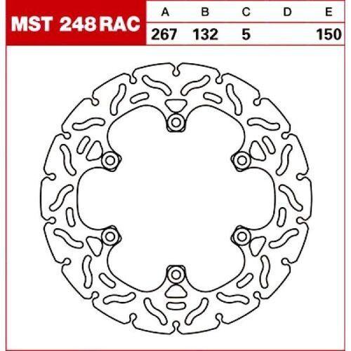 TRW Tarcza hamulcowa MST248RAC YAMAHA XV 750 Virag