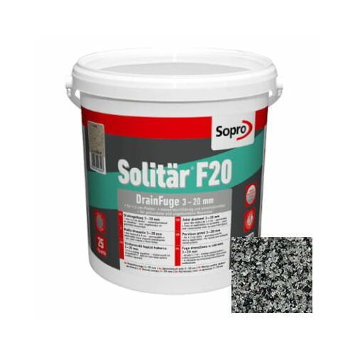 solitar f20 fuga drenażowa 3-20 mm kolor 13 szary brukowy 25 kg marki Sopro