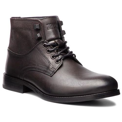 Trzewiki TOMMY JEANS - Casual Leather Boot EM0EM00141 Dark Shadow 028, w 7 rozmiarach