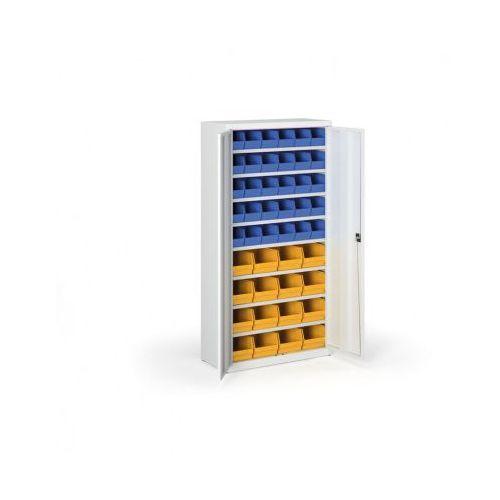 Szafa z plastikowymi pojemnikami - 1800x920x400 mm, 30x b, 16x c marki B2b partner