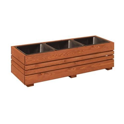 Werth-holz Donica ogrodowa gotegorb 41 x 32 x 109 cm drewniana prostokątna