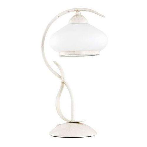 Lampka stołowa Alfa Odetta 24158 1x60W E27 biała/złota (5900458241589)