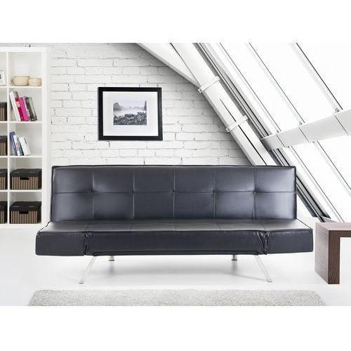 Rozkładana sofa czarna ruchome podłokietniki bristol, marki Beliani