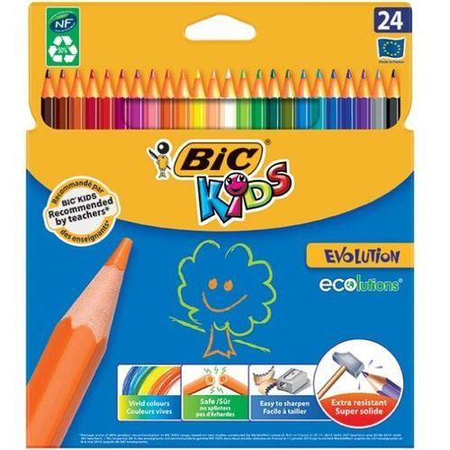 Kredki ołówkowe BIC ECOlutions™ EVOLUTION™, 24 kolory - Autoryzowana dystrybucja - Szybka dostawa