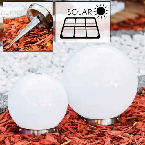 Komplet kul solarnych LED Stal nierdzewna, 2-punktowe - Nowoczesny - Obszar zewnętrzny - Set - Czas dostawy: od 4-8 dni roboczych