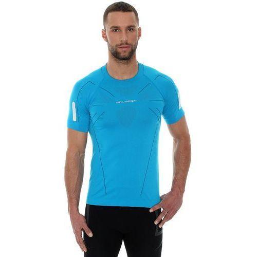 Brubeck athletic ss11090 - męska koszulka termoaktywna (lazurowy)