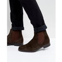 Dune Chelsea Boots In Brown Suede - Brown