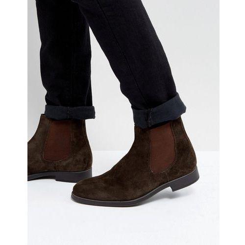 Dune Chelsea Boots In Brown Suede - Brown