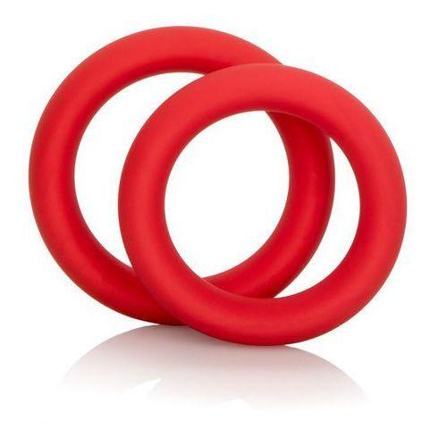 Colt gear Zestaw dwóch silikonowych pierścieni na penisa czerwony | 100% dyskrecji | bezpieczne zakupy