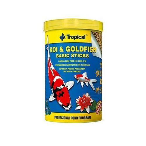 koi & goldfish basic sticks - pokarm w pałeczkach dla ryb stawowych puszka 1l/85g - 1l/85g marki Tropical