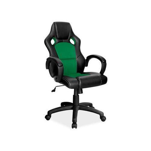 Signal Fotel gamingowy q-103 - fotel dla gracza - czarny-zielony - dostawa gratis