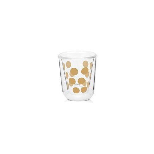 Zak! - Zestaw 2 szklanek 75ml z łyżeczkami, złoty