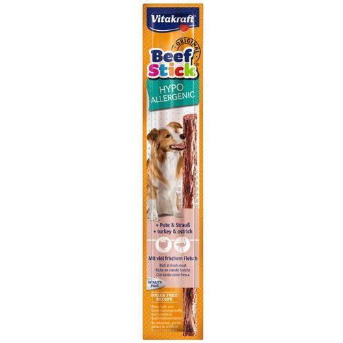beef stick hypoalergiczny kabanos dla psa z indykiem i strusiem marki Vitakraft