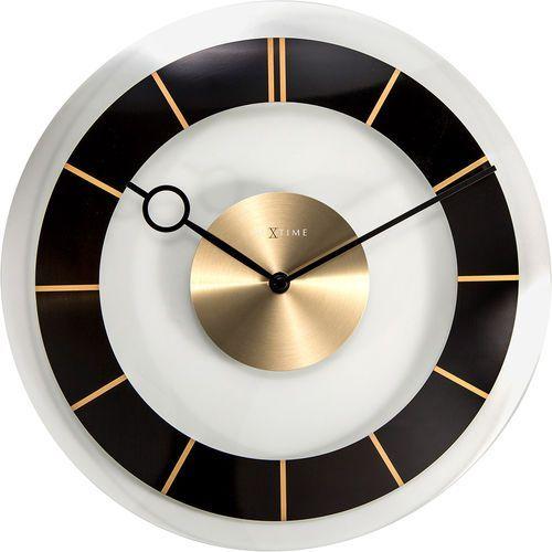 Zegar ścienny retro 31 cm, czarny / złoty (2790 zw) marki Nextime
