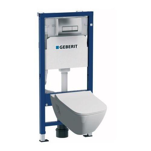 Zestaw podtynkowy WC Geberit Unifix Premium bezkołnierzowy z deską wolnoopadającą