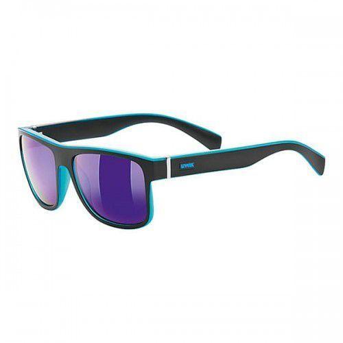 Uvex okulary lgl 21 (s3) black met blue z szybą mirror blue