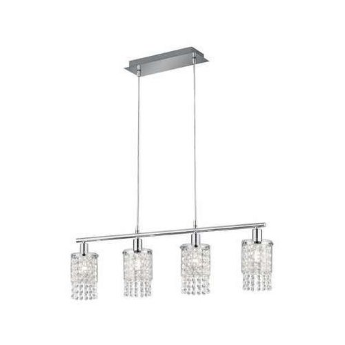 Trio RL Posh R30764006 lampa wisząca zwis 4x10W E14 chrom / transparentny (4017807441529)