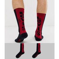 Levi's 2 pack back logo crew socks in black - Black