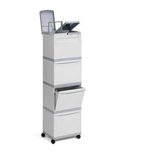 Szafka do recyklingu, 5 przegrody, 1460x400x300 mm marki Aj produkty