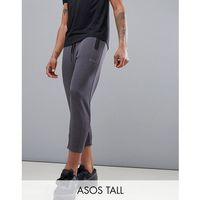 tall skinny tapered training joggers in cropped length - grey marki Asos 4505