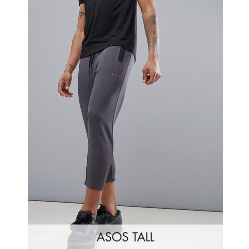 Asos 4505 tall skinny tapered training joggers in cropped length - grey
