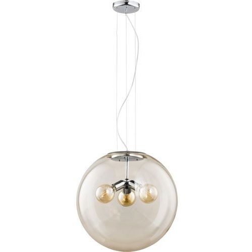 Tk lighting Żyrandol na drutu globo 3xe27/60w/230v beżowy (5901780521707)