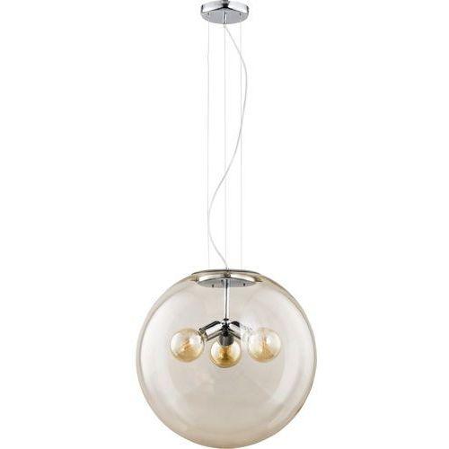 Żyrandol na drutu globo 3xe27/60w/230v beżowy marki Tk lighting