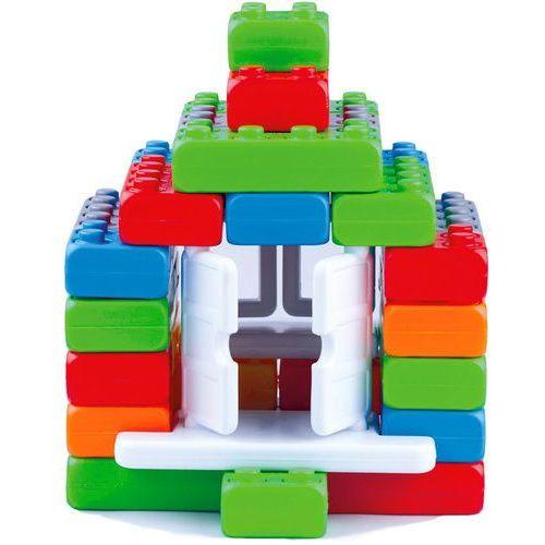 Klocki budowlane Cegła Junior 40 elementów Okna + Drzwi