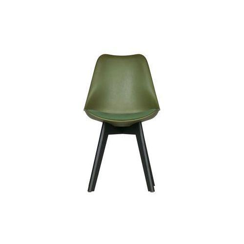 krzesło do jadalni set of 2 zielone 373611-g marki Woood