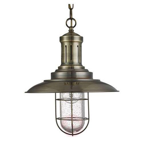 Searchlight Lampa wisząca fisherman, 1-punktowa kratka mosiądz (5053423056845)