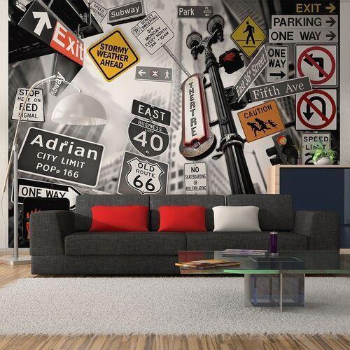 Artgeist Fototapeta - nowojorskie znaki na czarno-białym tle
